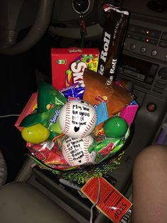 Boyfriends easter basket with why youre such a great catch baseball easter basket baseball girlfriendeaster baskets negle Choice Image