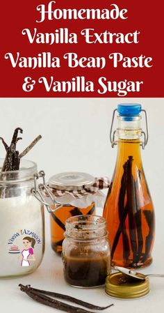 Learn to make homemade vanilla extract with just 2 ingredients. A simple step by step guide to make your own vanilla so you never have to buy vanilla again Bean Recipes, Snack Recipes, Cooking Recipes, Drink Recipes, Cooking Tips, Dessert Recipes, Vanilla Paste, Vanilla Sugar, Homemade Vanilla Extract