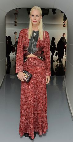 Pin for Later: The Stars Are Looking Quite Stylish Over in Milan Poppy Delevingne We were seeing red when model Poppy stepped out in this floral set.