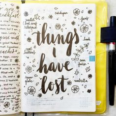 Things I have lost Bullet Journal Bullet Journal Planner, Bullet Journal Writing, Bullet Journal Ideas Pages, Bullet Journal Inspiration, Bullet Journals, Art Journals, Journal Quotes, Journal Prompts, Journal Pages