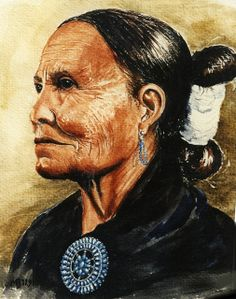 Helen Long, Navajo Weaver ~ by Margarethe Brummermann.