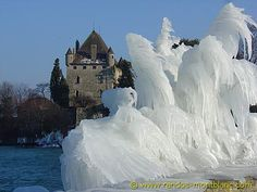 Frozen Swiss Landscape In January 2005, Lake Geneva and the surrounding area were hit with a horrific ice storm. Everything was completely blanketed with ice when waves breaking on the lake's shore...