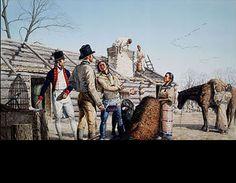 MICHAEL HAYNES - Sacagawea's First Gift-Fort Mandan 11 nov. 1904 kp