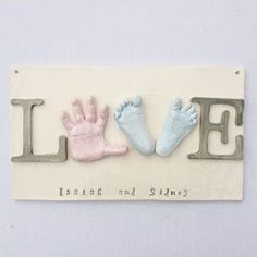 TheBabyHandprintCompany: Sibling Keepsake Clay Ceramic Art, Ceramic Hand Print Keepsake, Gift For The Grandparents, Prints In Clay, Online Ceramic Hand Prints, Baby Handprints, Custom Nursery Room Art, Personalized Nursery