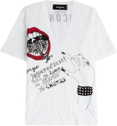 Dsquared2 Printed Cotton Tee