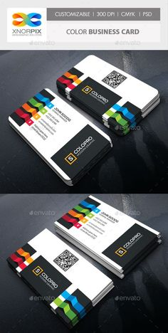Color Business Card Template PSD. Download here: http://graphicriver.net/item/color-business-card/14582195?ref=ksioks