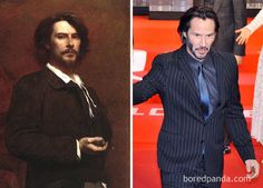 French Actor Paul Mounet (1847-1922) And Keanu Reeves