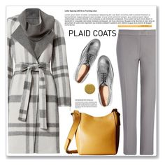 """Plaid Coats"" by ucetmal-1 ❤ liked on Polyvore featuring Exclusive for Intermix, Joseph, Church's, Frye, Too Faced Cosmetics, Chanel and plaidcoats"