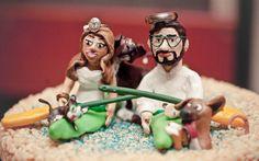 Custom Wedding Cake Topper by WhipKord on Etsy