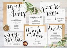 Simple wedding invitations diy printable. Print onto kraft paper for a rustic look. Choose from our watercolour and gold texture palette and have a graphic designer create your invitation set for you. Follow the link or pin for later!