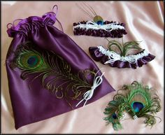 Peacock Feather Wedding Bridal Accessories