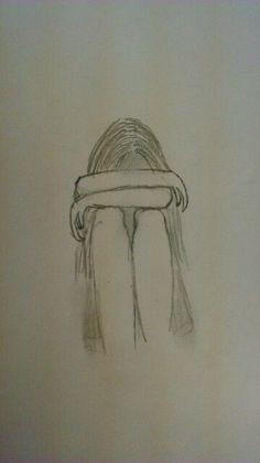 New Drawing Pencil Sad Art 18 Ideas Easy Pencil Drawings, Pencil Sketch Drawing, Sad Drawings, Cool Art Drawings, Art Drawings Sketches, Drawing Art, Drawing Poses, Easy Drawings Of Girls, Drawing Portraits