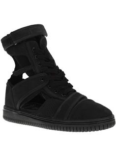 CHRISTIAN PEAU Cut-Out Hi-Top Sneaker
