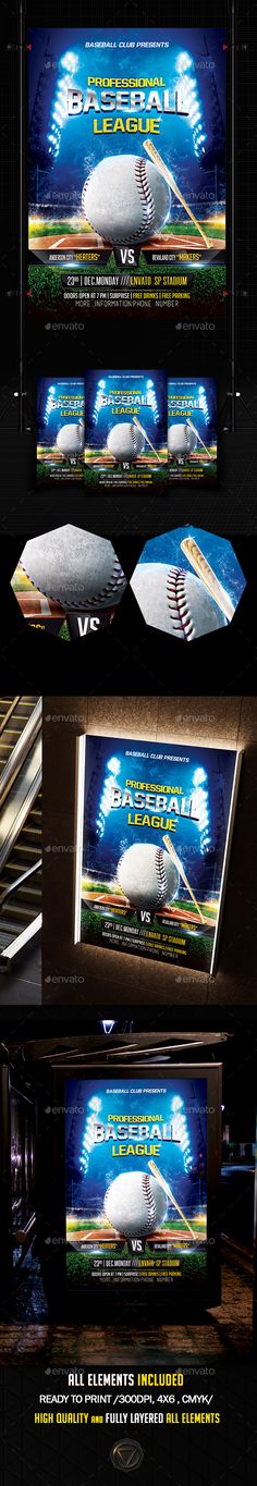Fight Flyer Flyer template, Templates and Sports - baseball flyer