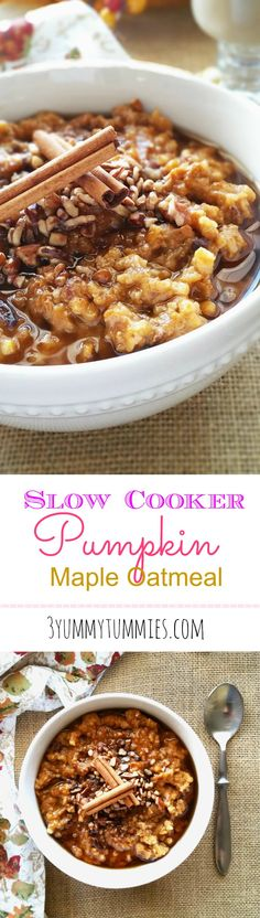 Slow Cooker Pumpkin Maple Oatmeal