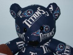 Titans Teddy Bear Tennessee Football NFL Tailgate Party by DoOver, $35.00