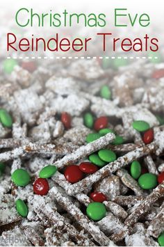 Reindeer treats for Christmas Eve. Leave out for the reindeer, the kids will love making and snacking on these all season long!