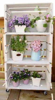 10 ideas para decorar con cajas de frutas | Decoración