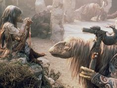 Jim Henson and Stephen Garlick in The Dark Crystal Monty Python, Jim Henson, Fantasy Movies, Sci Fi Movies, Digital Projection, Brian Froud, Wolf Of Wall Street, Tv Show Games, The Dark Crystal