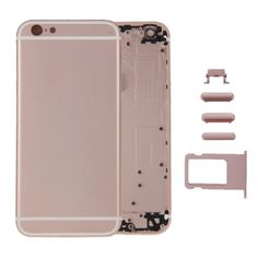 [USD42.88] [EUR40.44] [GBP31.26] iPartsBuy Full Assembly Replacement Housing Cover for iPhone 6, Including Back Cover & Card Tray & Volume Control Key & Power Button & Mute Switch Vibrator Key & Sign (Rose Gold)