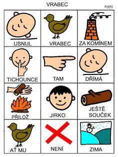 Pro Šíšu: Vrabec Montessori, Logos, Cards, Dolphins, Autism, Logo, Maps, Playing Cards