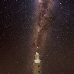 Vlaming Head lighthouse #australia #westernaustralia #night #stars #milkyway #universe