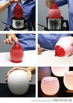 Make candles using balloon! Soo want to try this!