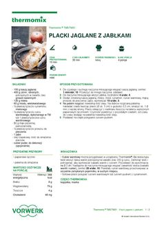 thermomix - Placki jaglane z jablkami Make It Simple, Recipies, Food And Drink, Names, Cooking, How To Make, Inspiration, Lego, Dreams