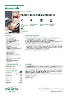 thermomix - Placki jaglane z jablkami