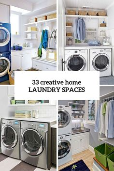 33 Creative Laundry Spaces You Should Have A Look At