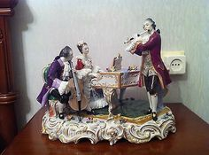 Lovely Dresden Volkstedt Porcelain Large Figurine Figure Group | eBay