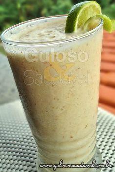 Vitamina de Pêssego com Pera e Limão - Smoothie » Bebidas, Liquidificador, Receitas Saudáveis » Guloso e Saudável