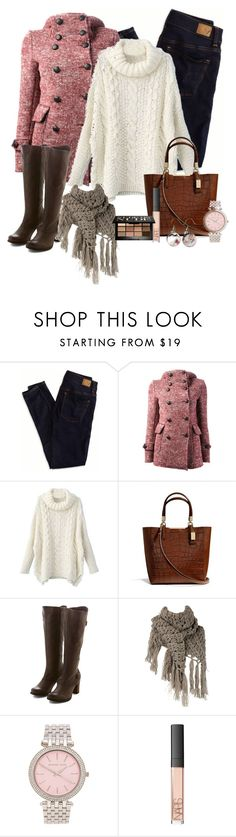 """""""Date Night"""" by tmm70 ❤ liked on Polyvore featuring American Eagle Outfitters, Route des Garden, Coach, Miz Mooz, Dorothy Perkins, Michael Kors, NARS Cosmetics and Bobbi Brown Cosmetics"""