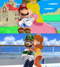 Mario x Peach and Luigi Daisy MMD Love by 9029561