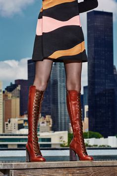 Fall's best thigh-high boots go to new heights. See the best pieces from this footwear trend, like the above Chloé, on wmag.com.