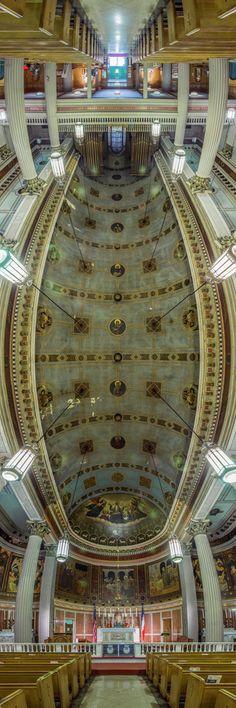 Panoramas verticais de igrejas de Nova Iorque por Richard Silver,Vincent de St. Paul. Imagem © Richard Silver Photo