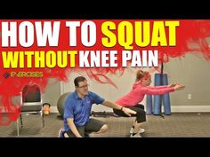 How to Squat Without Knee Pain - YouTube