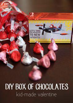 DIY Valentine Box of Chocolates #Kids