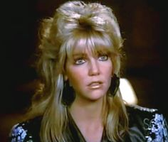 Sammy Jo (Heather Locklear) - femullet :D Angels Beauty, Heather Locklear, 80s Hair, Mullets, Hairspray, Perm, Bangs, Amanda, Denver