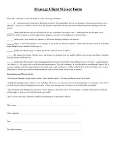 Free Printable Massage Intake Forms  Intake Form  Massage
