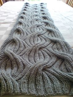 Reversible Cabled-Rib Shawl by Lily M. Chin