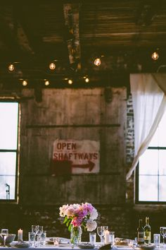 Boho Greenpoint Loft Wedding Warehouse Brooklyn Venues Flower Decorations
