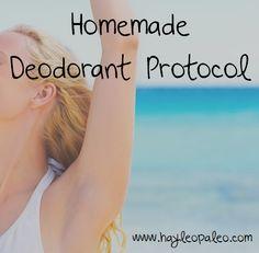 homemade deodorant protocol