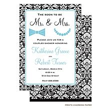 Couples wedding shower invitation wording party of the year custom printed invitations for wedding shower black white mr mrs couples filmwisefo