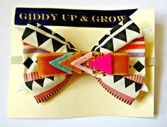 Baby Bow Headband  Aztec headband