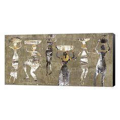Metaverse Art African Dance Canvas Wall Art, Multicolor