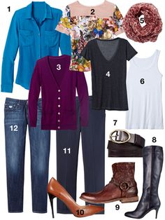 30 Days of Outfits (plus 10 more) - from Redbook magazine - layering and remix inspiration for fall