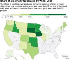 el mapa eólico de EEUU