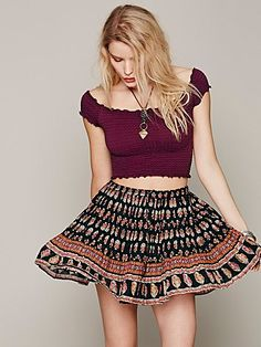 Free People Smocked Crop Top. ... love the skirt toooo though! Shop our selection of FP Smocked Crops at wholesale prices at http://stores.ebay.com/Handsome-Apparel