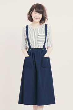 Tokyo Fashion, Asian Fashion, Sunday Clothes, Linen Dresses, Types Of Fashion Styles, Aesthetic Clothes, High Waisted Skirt, Cute Outfits, Prom Dresses